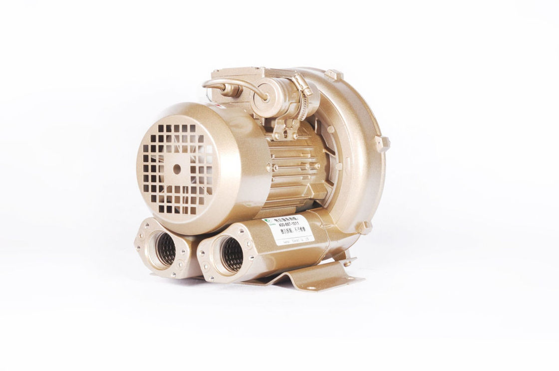 0.4kw High Pressure SPA Ring Air Blower , Aquaculture Fish Pond Side Channel Vacuum Pump
